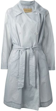 $541, Grey Trenchcoat: Christian Wijnants Chital Trench Coat. Sold by farfetch.com. Click for more info: https://lookastic.com/women/shop_items/264320/redirect