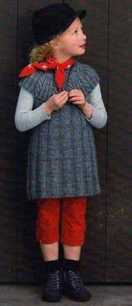 Копилка идей ツ: Вязаное детское платье с круглой кокеткой
