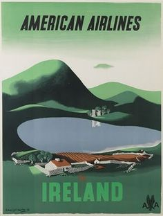 American Airlines Ireland Travel Poster