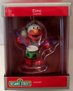 Strawberry shortcake christmas ornament fraisinette scented american american greetings sesame street elmo christmas ornament new in box 1999 m4hsunfo Image collections