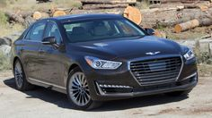 The 2017 Genesis has a short options list, lots of room in back, and plenty of comfort. The new twin-turbo also brings the twist. New Car Photo, First Drive, Twin Turbo, Car Photos, Cars And Motorcycles, Nissan, Honda, Vans, Vehicles