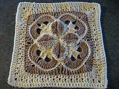 """Starburst New Millenium 12"""" Afghan Block Motif By Margaret MacInnis - Free Crochet Pattern - (ravelry)"""