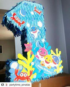 1st Birthday Outfit Girl, Baby Boy 1st Birthday Party, Birthday Party Themes, Happy Shark, Shark Party, First Birthdays, Cakes, Party, Craft
