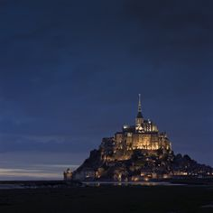 Mont-St-Michel at night