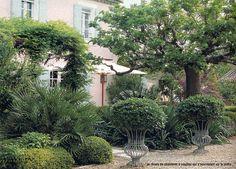 BOSC ARCHITECTES - MICHEL SEMINI paysagiste - JACQUES GRANGE décorateur - Mas de pierre Bergé à Saint-Rémy de Provence - jardin