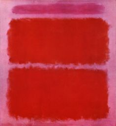 Mark Rothko, Mauve and Orange, 1961, oil on canvas. Classified by others as Abstract Expressionism, although he rejected that classification.