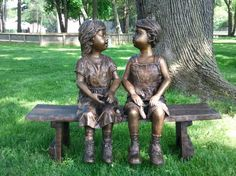 'Companions Together on Bench' - Randolf Rose Collection