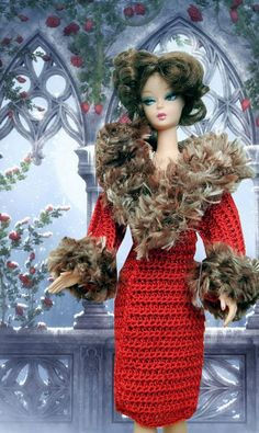 Crochet pattern PDF Christmas winter coat by PrincessOfCrochet