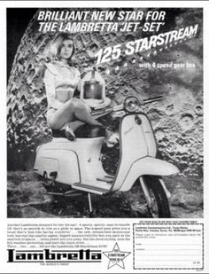 Lambretta advert classic 1960s Vespa Mod Mini Culture Scooter Vintage Style Fashion