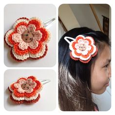 Sweet hair clip flower (L) by SweetHandmade Crochet