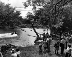 ... an afternoon at the South Concho River in Christoval in May 1952