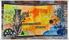 Jorunns fristed: Fargerik Art Journaling Art Journaling, Girly, Rainbow, Painting, Color, Art Diary, Women's, Rain Bow, Rainbows
