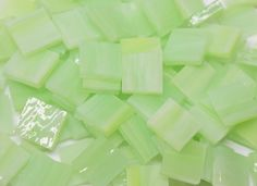 Key Lime Opal Hand Cut Stained Glass Mosaic Tiles - Mosaic Tile Mania