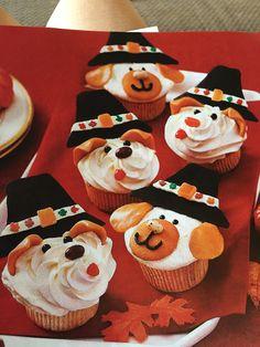 Pilgrim puppy cupcakes