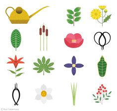 Manual of the flower materials for Ikebana on Behance