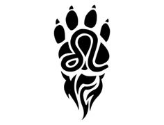 Leo Tattoo..I think I kind of like this one with the paw prints
