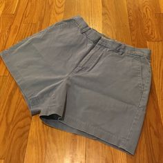 J. Crew periwinkle shorts Periwinkle chino shorts from J. Crew. Worn lovingly, but in great shape. Color appears a little more purple in person. Zip fly, front pockets, and single back pocket. J. Crew Shorts
