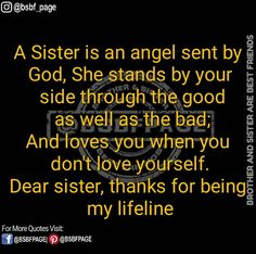 little sister quotes growing up Brother Sister Love Quotes, Brother N Sister Quotes, Brother And Sister Relationship, Sister Poems, Sister Quotes Funny, Love My Sister, Dear Sister, Sister Friends, Cousin