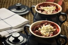 Beef and Beetroot Casserole with Blue Cheese - Castello USA Dinner Party Recipes, Dinner Entrees, Entree Recipes, Blue Cheese Recipes, Cheese Lover, Melted Cheese, Beetroot, Food Inspiration, Food Porn
