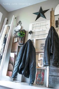 Organize that junk by hanging it up ~ or how to organize using your clutter