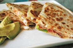 bacon and shrimp quesadilla.