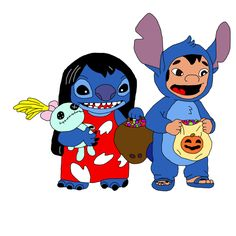 Lilo and Stitch on Halloween