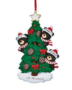 Buy Black Bear Tree Family 3 - Personalized Families of 3 Christmas Ornaments, Gifts, and Decorations at the Ornament Shop. Over 5000+ items.