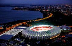 vista noturna do complexo do Sport Club Internacional de PORTO ALEGRE - BRASIL