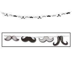 Mustache party garland