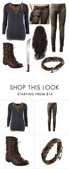 """""""The Maze Runner outfit"""" by i-watch-tv-too-much ❤ liked on Polyvore featuring Maison Scotch, Balmain and Beston"""