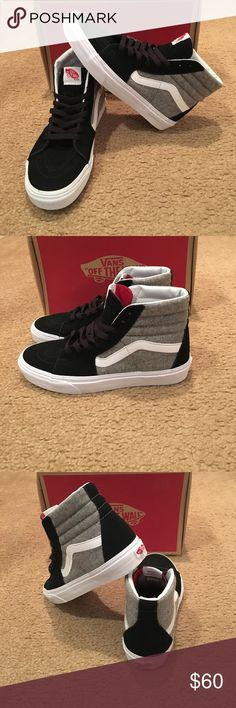 Vans Sk8Hi Wool Sport New in box. Unisex. Black/Gray Vans Shoes Sneakers