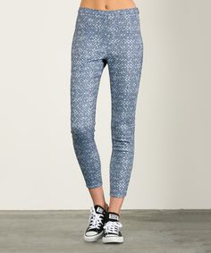 Another great find on #zulily! Denim Blue Side-Zip Leggings by Aime Clothing #zulilyfinds