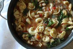 Tortellini, Kale and White Bean Soup