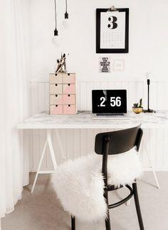 A Faux-Marble Desk