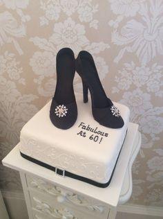 Shoe themed birthday cake