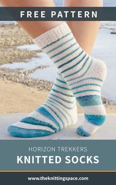 Beginner Knitting Patterns, Knitting For Beginners, Knitting Designs, Knitting Projects, Knitting Wool, Double Knitting, Free Knitting, Knitting Socks, Knitted Socks Free Pattern