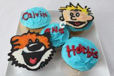 Calvin and Hobbes cupcakes
