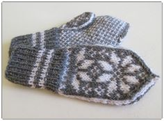 Hjerte GO`H Design Norwegian Knitting, H Design, Baby Knitting, Mittens, Gloves, Wool, Barn, Baby Knits, Pattern