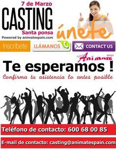 Únete a nuestro casting de el día 7 de marzo