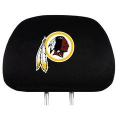 The Washington Redskins Automotive Head Rest Cover protects your car or truck seat headrest while showing your Redskins pride.