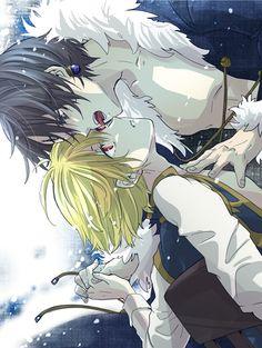 Chrollo x Kurapika (Hunter X Hunter) *Achei mei gay a img, mas ..