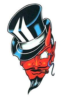 Red Devil with Top Hat & Cigar Temporary Body Art Tattoos... http://www.amazon.com/dp/B00957O208/ref=cm_sw_r_pi_dp_Sm6ixb0AXD0S6 #temporarytattoo #bodyart #inked #reddevil #tophat #cigar