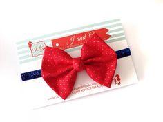 Baby/Child/Girls Fabric Hair Bow Headband Gold by JandGhandmade, $6.95