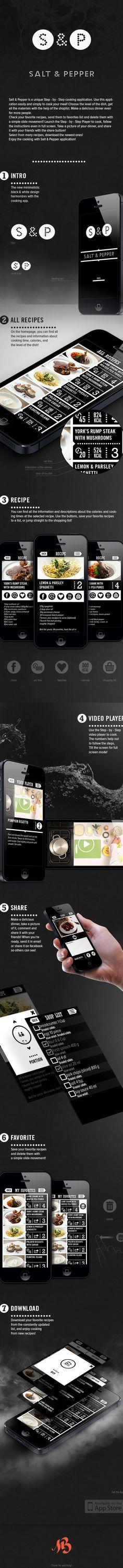 Salt & Pepper - app by Magyar Balázs, via Behance