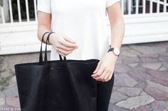 Trini | Daniel Wellington watch Céline black cabas bag