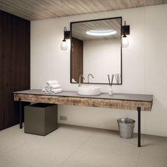 Plan de toilette en grès cérame FOSTER iTOPKer Collection iTOPKer by INALCO - INDUSTRIAS ALCORENSES CONFEDERADAS