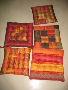 Dining Chair Cushions With Ties.