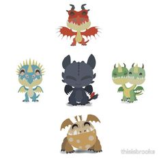 Baby Dragons How To Train Your Dragon 2