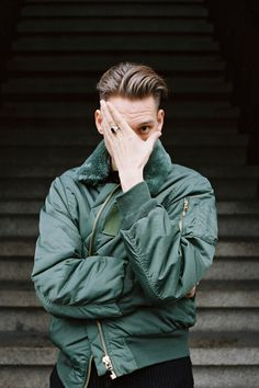 Thomas Azier by Isolde Woudstra, via Behance Portrait Photography Men, Photography Poses For Men, Portrait Poses, Portraits, Urban Photography, Military Inspired Fashion, Mode Man, Streetwear, Men Photoshoot