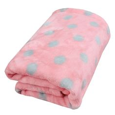 Yicat® Pet Dog Warm Blanket Puppy Teddy Plush Quilt Super Soft Air Conditioning Quilt Dog Pad Bed Covers,Polka Dot Design -- Discover this special product, click the image